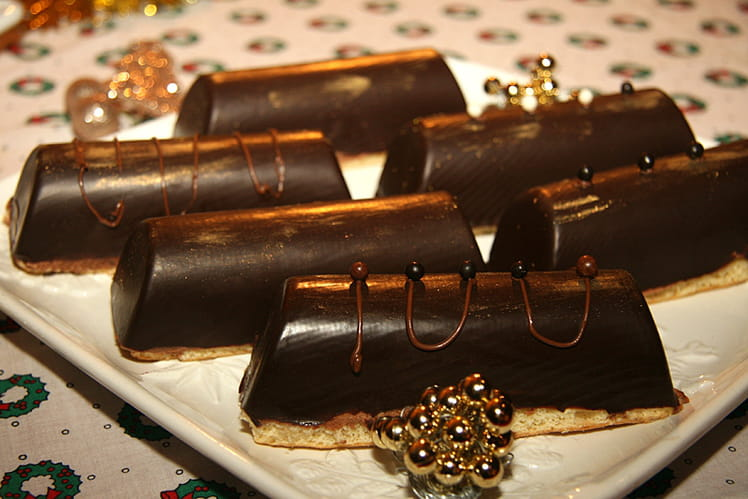 Bûchettes chocolat framboise