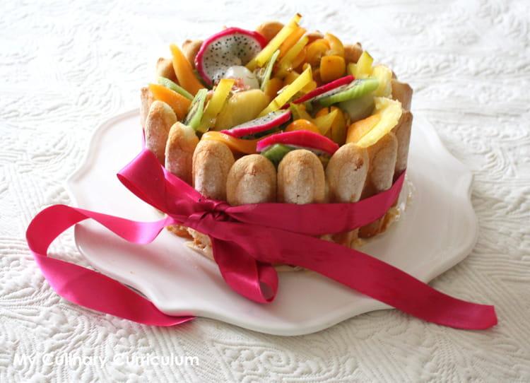recette de charlotte aux fruits exotiques la recette facile. Black Bedroom Furniture Sets. Home Design Ideas