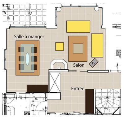 le plan de la pièce avant