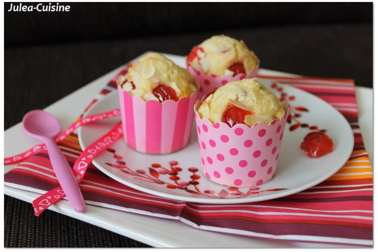 Muffins amandes et cerises confites (sans beurre)