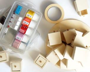 matériel nécessaire pour fabriquer ce calendrier de l'avent en boîtes