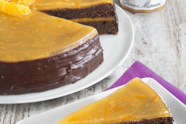 Gâteau au chocolat et à L'Orange Fruitée Intense Bonne Maman