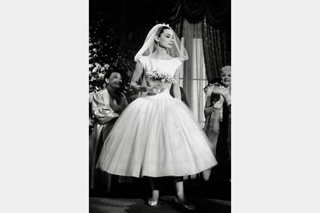 Audrey Hepburn en robe de mariée