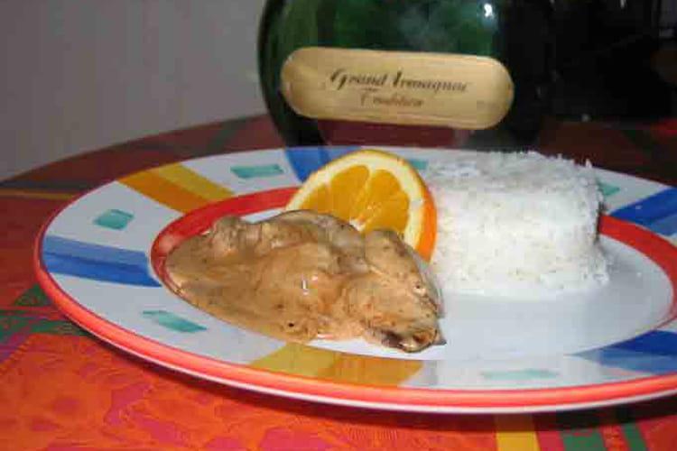 Emincé de canard à l'orange et à l'Armagnac