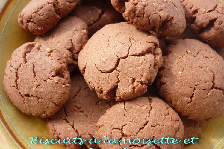Biscuits à la noisettes et au chocolat