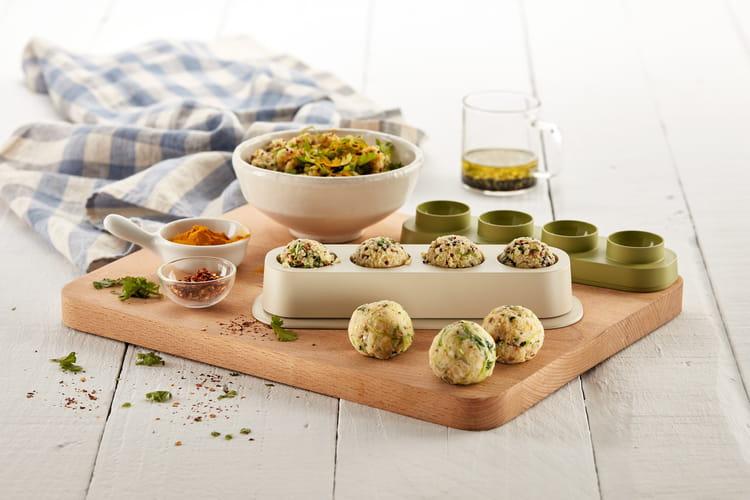 Boulettes veggie de courgettes et haricots