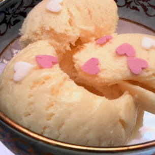 crème glacée au lait concentré (sans sorbetière)