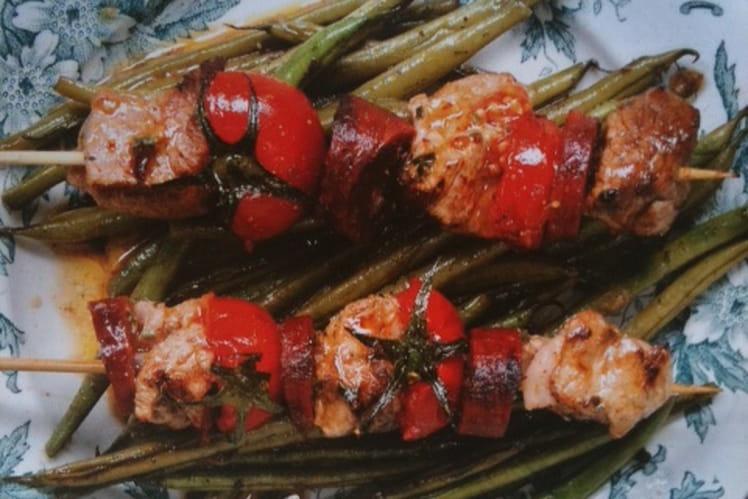 Brochettes de porc au chorizo