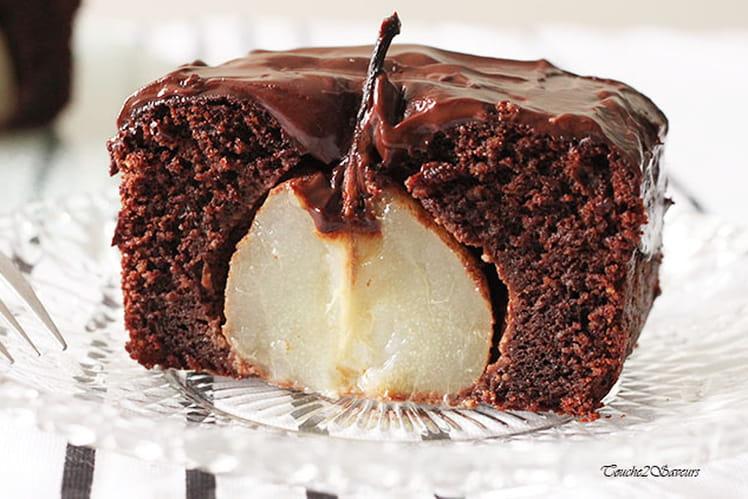Gâteau chocolat amande poires entières