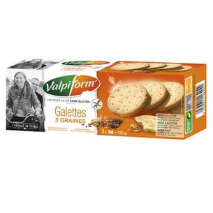 galettes aux 3 graines sans gluten de valpiform'