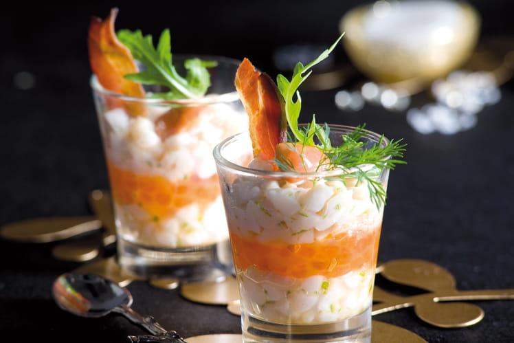Tartare de Saint-Jacques aux oeufs de saumon