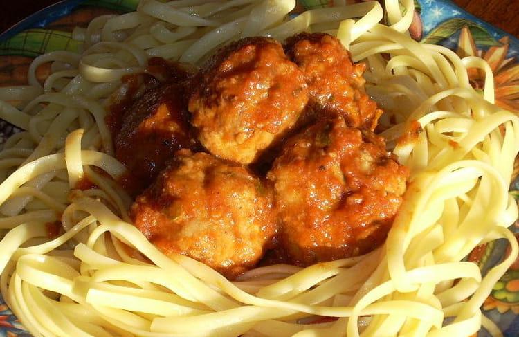 Recette de boulettes de viande aux linguini la recette for Plat unique convivial