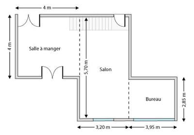 le plan de la pièce actuelle