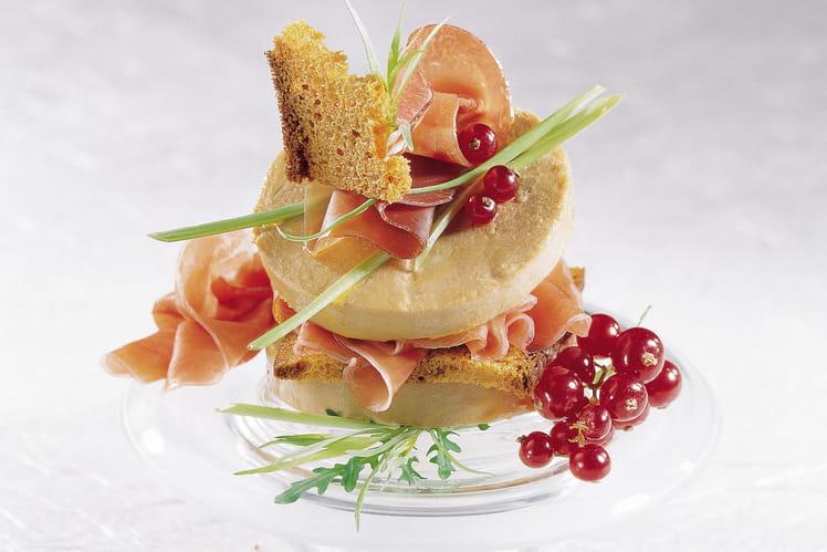 Millefeuille mille saveurs au foie gras