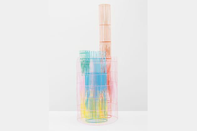 Sculpture colorée en papier