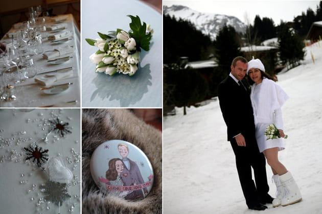 Un mariage sous la neige par Com'une Orchidée