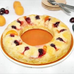 gâteau abricots cerises