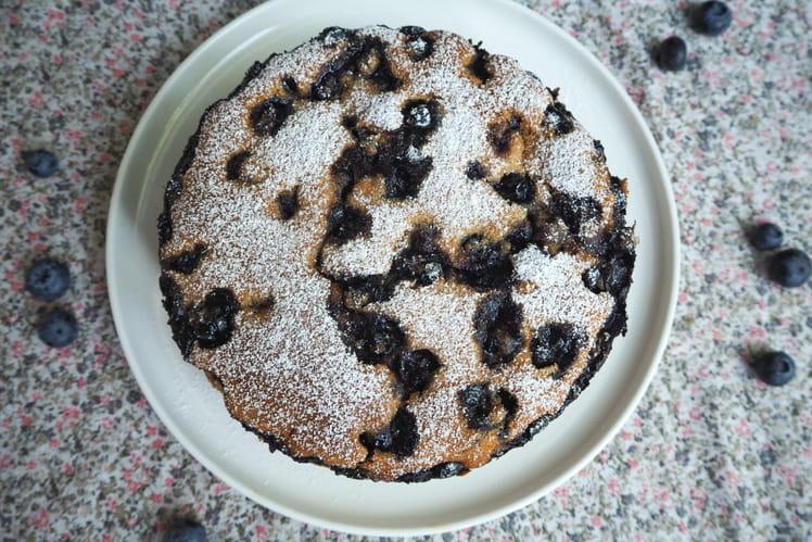 Gâteau aux amandes et myrtilles