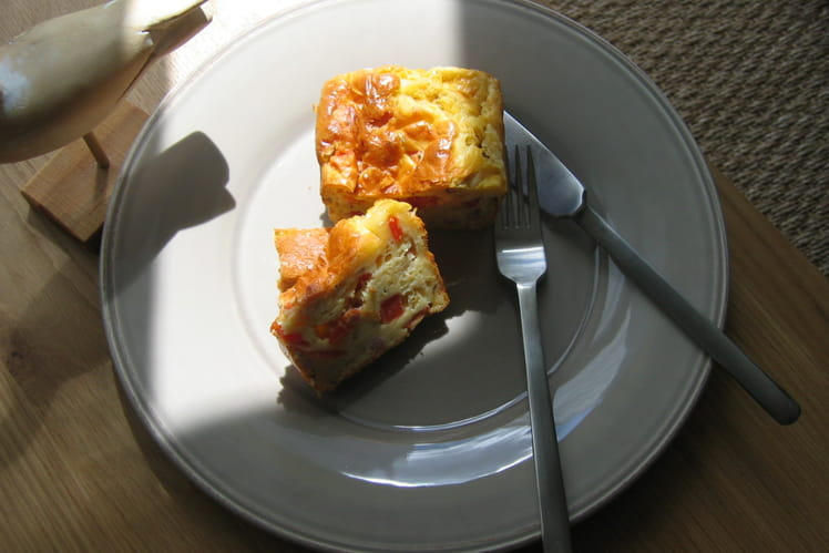 Cake  lardons tomates
