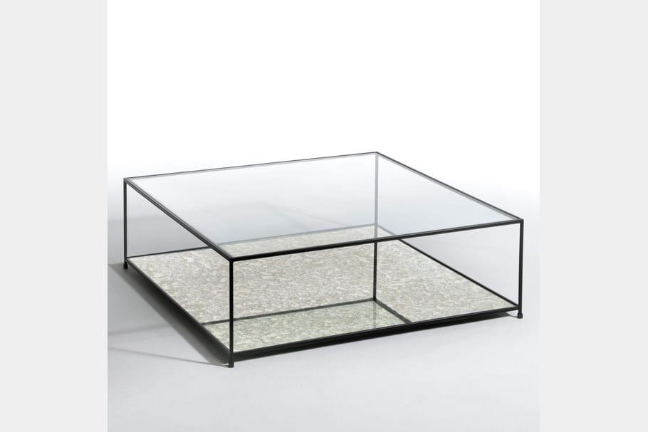 Une table basse transparente for Table basse transparente