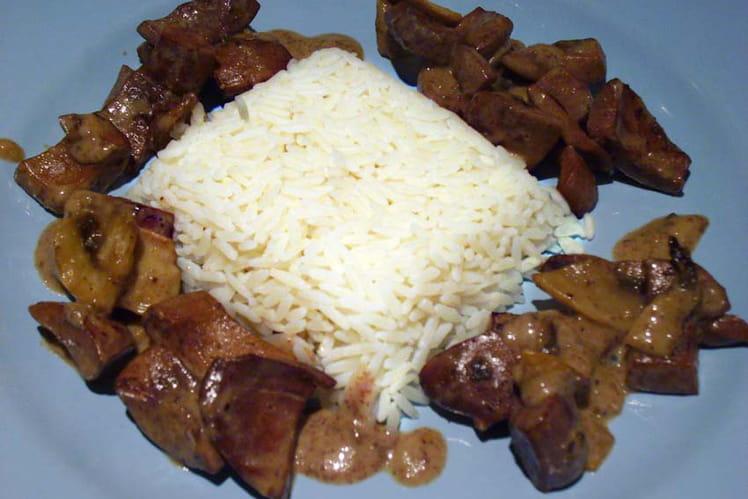 Rognons sauce légère aux champignons