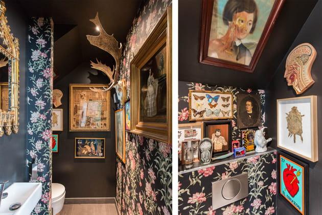 Des toilettes comme un cabinet de curiosités