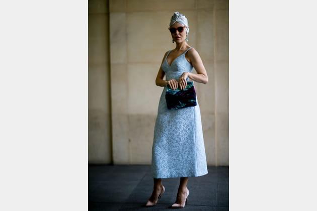 Street style à Paris : le turban