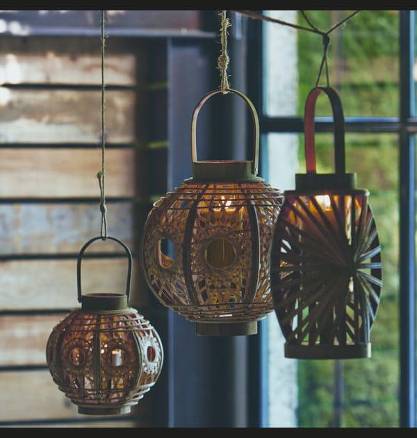 Lanternes en bambou Alinéa