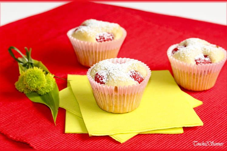 Muffins aux amandes et cerises light