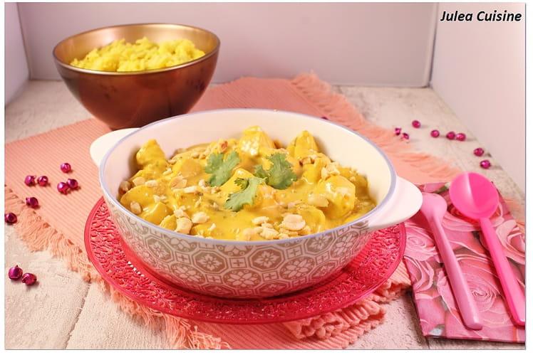 Poulet Shahi Korma et riz aux épices