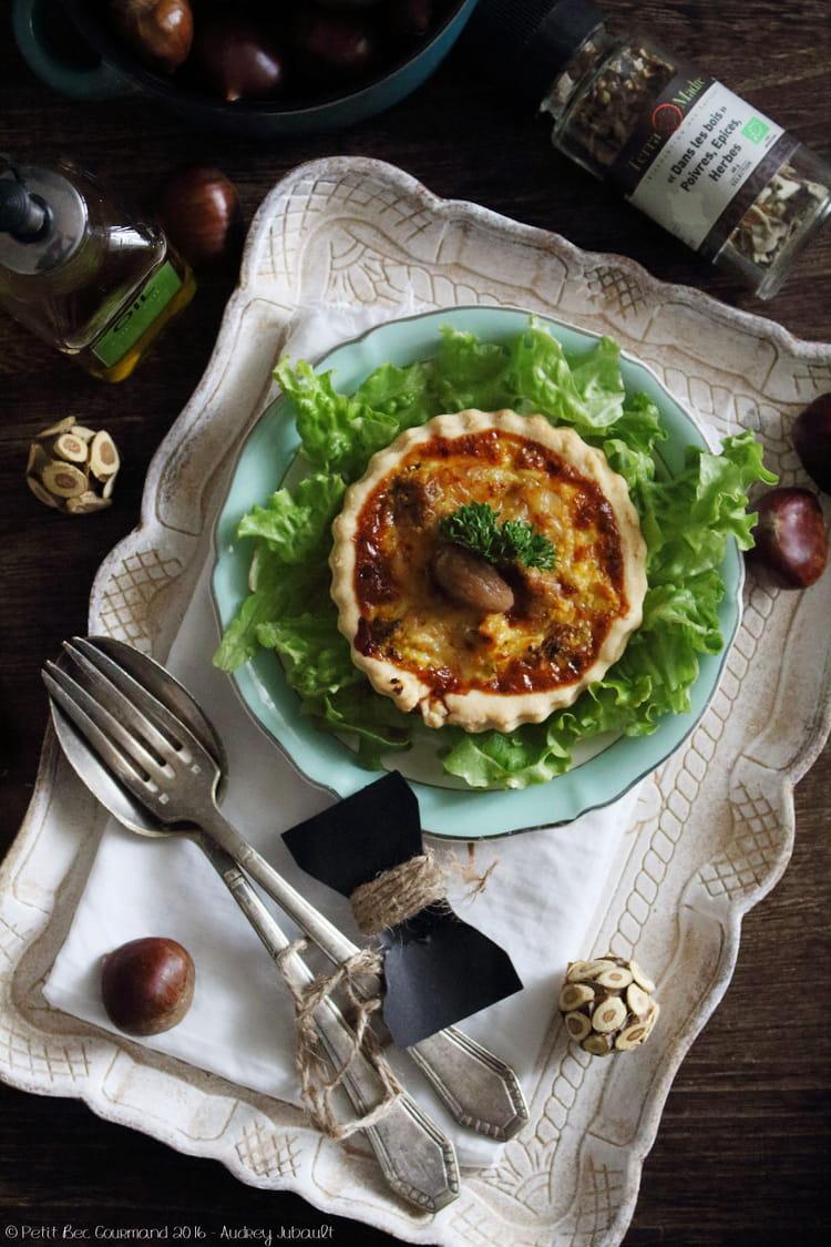 Recette de quiche au butternut poulet et girolles - Recette de cuisine quiche au poulet ...