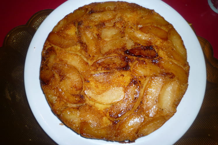 Gâteau aux pommes, saveur vanille et citron