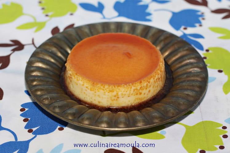 Crème caramel aux amandes
