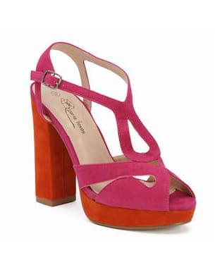 sandales orange et fuchsia de la halle aux chaussures