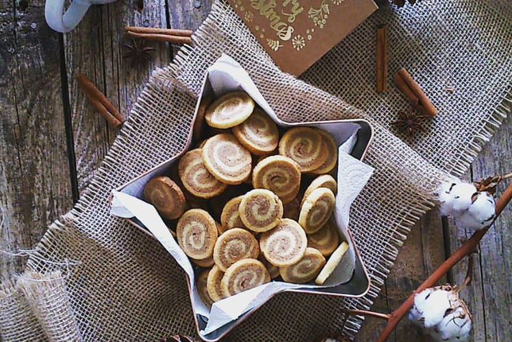 Sablés marbrés à la cannelle et vanille