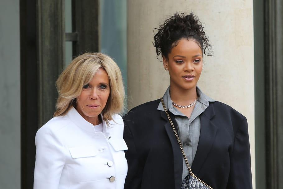 Brigitte Macron et Rihanna en mode casual à l'Élysée