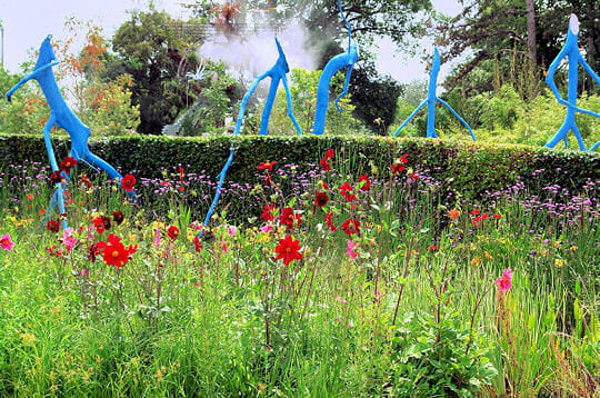 Le jardin des arbres bleus