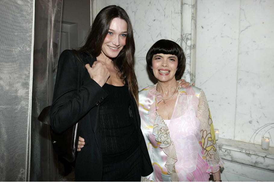Avec Carla Bruni, chez Gerlain