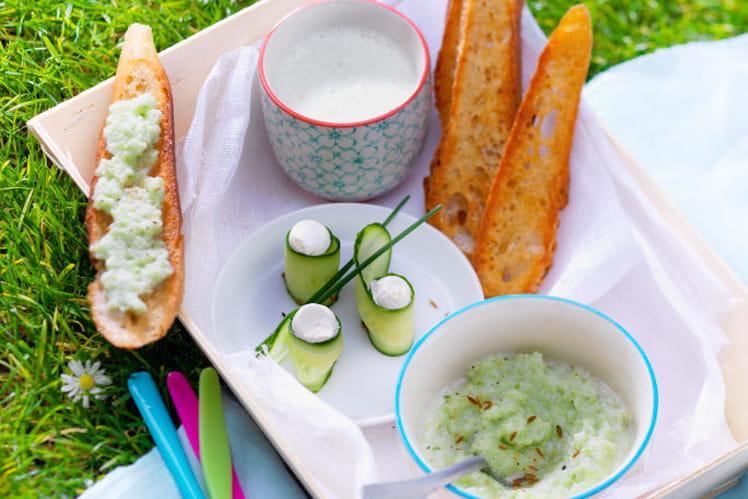Tzatziki au St Môret® et sa soupe de concombre