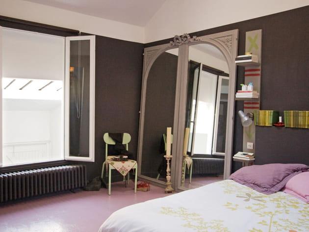 chambre taupe et pastel. Black Bedroom Furniture Sets. Home Design Ideas