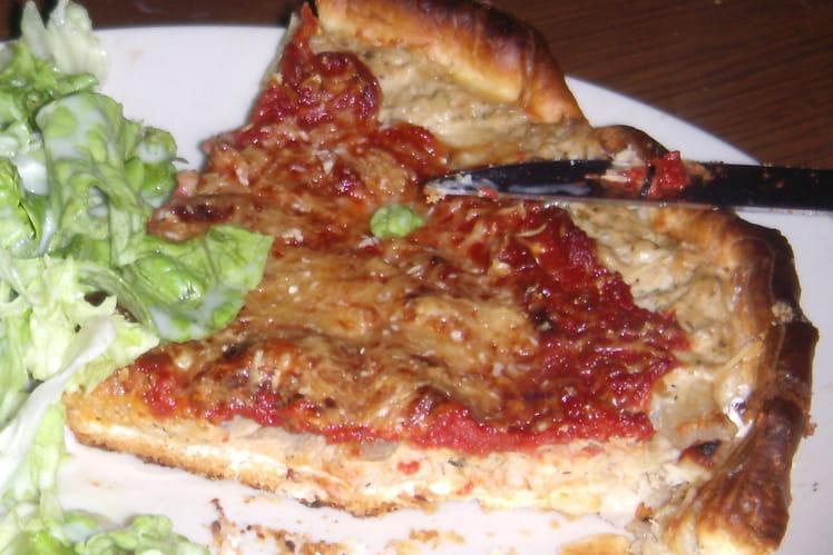 Tarte thon, tomate et parmesan