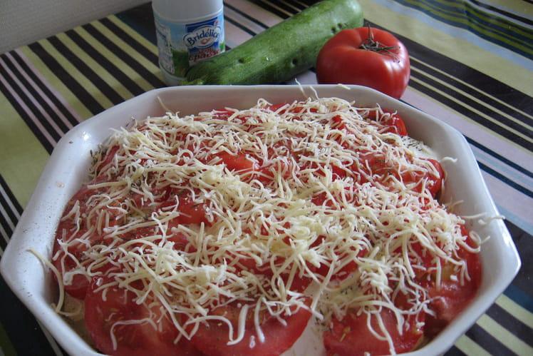 Gratin de courgettes, tomates et pommes de terre