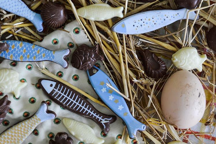 Fritures de Pâques en chocolat