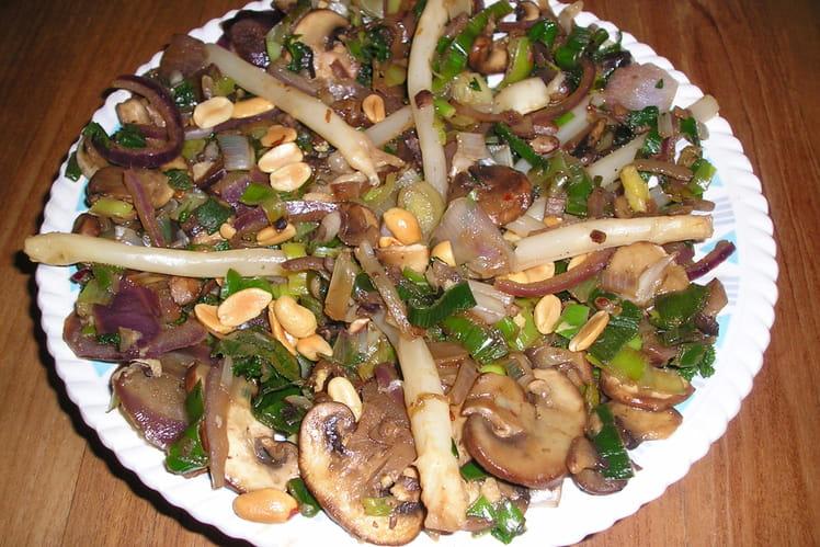 Salade tiède d'asperges et ses légumes