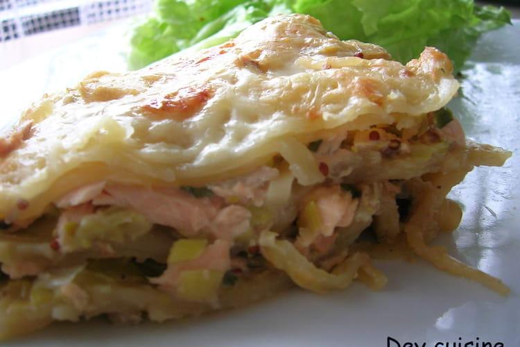 Lasagnes poireau & saumon
