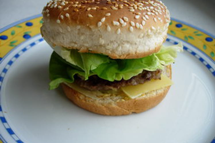 Hamburger maison tout simple