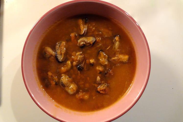 Soupe moules-carottes