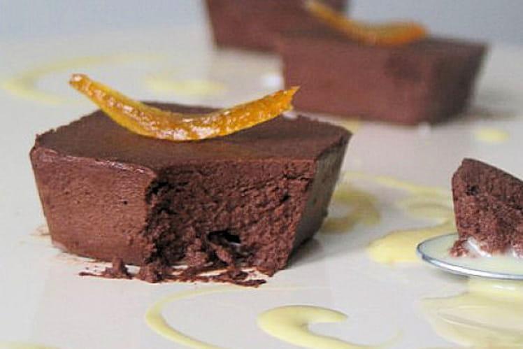Marquise au chocolat noir et orange