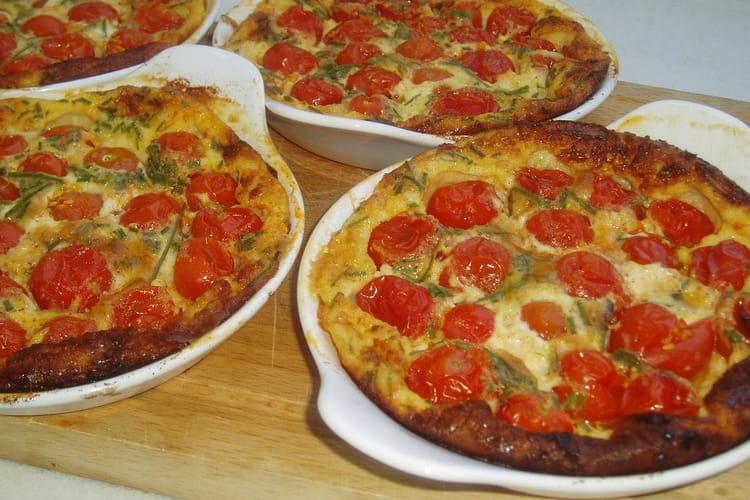 Clafoutis aux tomates cerises et ciboulette