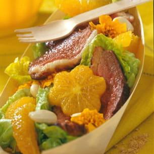 coupelle fraîcheur salade-orange-magret
